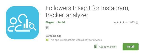 Followers Insight for Instagram, Tracker and Analyzer